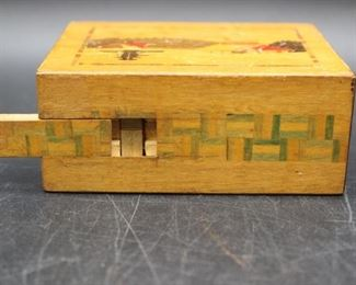 1960s Spring Drawer Japanese Wooden Puzzle Box