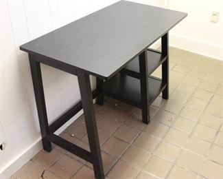 Black Wooden Desk With Shelves