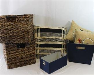Baskets & Pillows