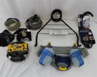 Bicycle Locks, Gloves, Water bottle Pack & Storage Baskets