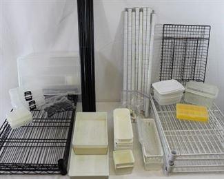 Metal Shelving Units & Small Plastic Storage Organizers