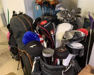 Tons of golf items
