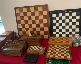 Variety of chess sets