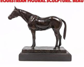 Lot 2 Vintage Bronze Horse Equestrian Figural Sculpture. Beau