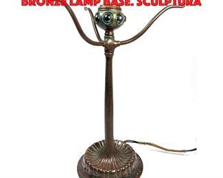 Lot 8 TIFFANY STUDIOS 486 Vintage Bronze Lamp Base. Sculptura