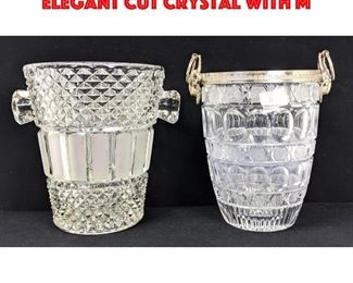 Lot 20 2pc Crystal Ice Buckets. 1. Elegant Cut Crystal with M