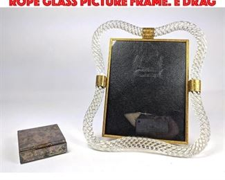 Lot 30 Italian Murano Twisted Rope Glass Picture frame. E DRAG