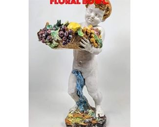 Lot 31 Italian Pottery Figure with Floral Bowl.
