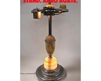 Lot 38 Art Deco Light Up Smoking Stand. Akro Agate.