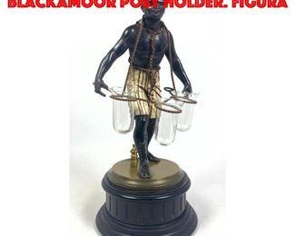 Lot 40 Petit Choses style Metal Blackamoor Posy Holder. Figura
