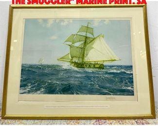 Lot 45 MONTAGUE DAWSON Chasing the Smuggler Marine Print. Sa