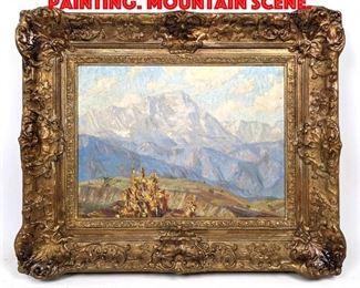 Lot 47 BERNICE HATHAWAY Oil Painting. Mountain Scene.