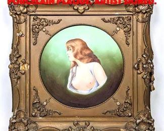 Lot 50 LIMOGES France Painted Porcelain Plaque. Artist Signed.