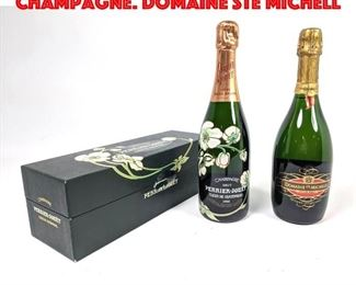 Lot 55 2 Bottles Vintage French Champagne. DOMAINE Ste MICHELL