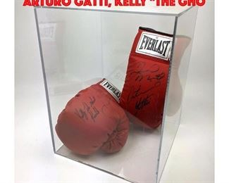 Lot 57 Pair signed Boxing gloves. Arturo Gatti, Kelly The Gho
