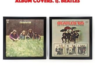 Lot 61 2 1960 s and 1970 s Framed Album Covers. 1. BEATLES
