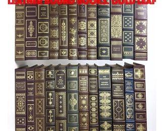 Lot 70 Set 24 Franklin Library Leather Bound Books. Gold Leaf