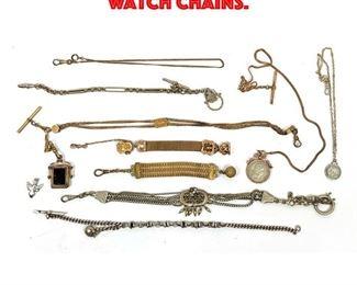 Lot 72 10pcs Vintage Pocket watch Chains.