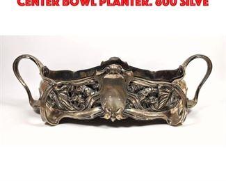 Lot 76 HUGO SCHAPER Art Nouveau Center Bowl Planter. 800 Silve