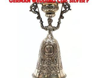 Lot 79 Sterling Figural Nuremberg German Wedding Cup. Silver F