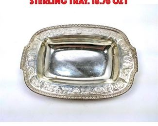 Lot 81 Bailey Banks and Biddle Sterling Tray. 18.76 OZT