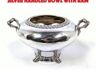 Lot 83 BENNETT and CALDWELL Coin Silver Handled Bowl with Ram