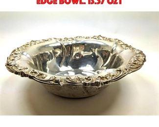 Lot 88 Gorham Sterling Ruffled Edge Bowl. 13.57 OZT