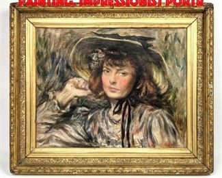 Lot 96 R WEIDNER Signed Portrait Painting. Impressionist Portr