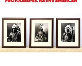 Lot 98 3pc J.A. ANDERSON c. 1900 Photographs. Native American
