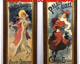 Lot 99 2pcs French Poster Prints. Scala Arlette Dorgere and Pa