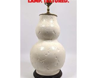 Lot 108 Glazed Pottery Table Lamp. Textured.
