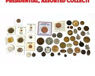 Lot 115 Large of Medals. Mostly Presidential, Assorted collecti