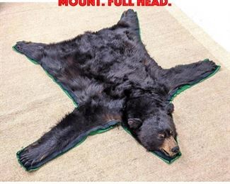 Lot 129 Brown Bear Taxidermy Rug Mount. Full head.