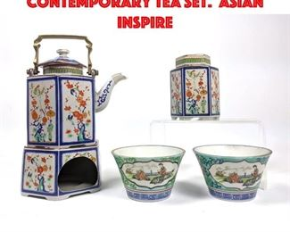 Lot 135 TOSCANY COLLECTION Contemporary Tea Set. Asian inspire