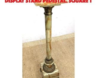 Lot 156 Onyx and Metal Vintage Display Stand Pedestal. Square T