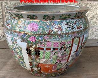 Lot 162 Chinese Soft Paste Porcelain Fish Bowl.