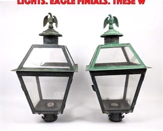 Lot 163 2pcs Traditional Lantern Lights. Eagle Finials. These w