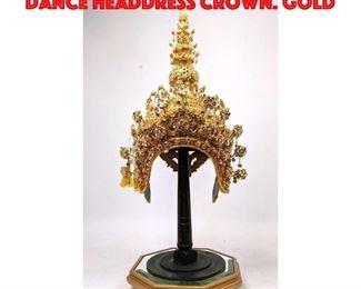 Lot 166 Replica of Traditional Thai Dance Headdress Crown. Gold