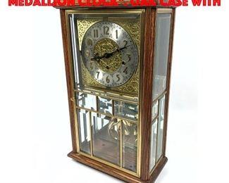 Lot 167 ANSONIA CLOCK Co Gold Medallion Clock. Oak Case with