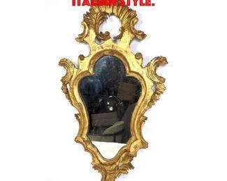Lot 172 Gilt Carved Wood Mirror. Italian style.