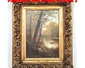 Lot 180 JEAN ALEXANDER DURANT Oil Painting on Canvas. A Quiet S