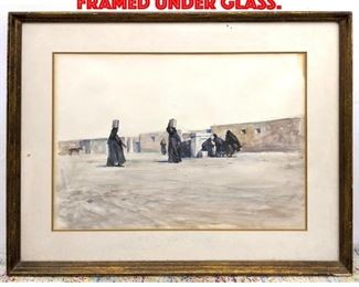 Lot 182 Watercolor Painting Framed under Glass.