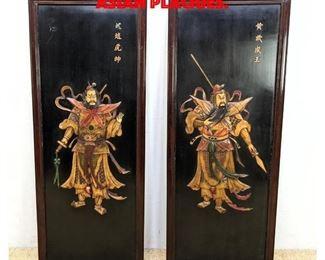 Lot 189 Pair decorative Asian Plaques.