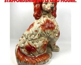 Lot 195 Contemporary Oversized Staffordshire Style Dog Figure.