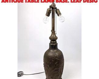 Lot 196 BRADLEY and HUBBARD Antique Table Lamp Base. Leaf Desig
