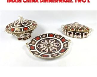 Lot 199 5pc ROYAL CROWN DERBY OLD IMARI China Dinnerware. Two L
