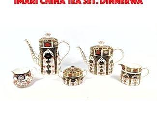 Lot 200 5pc ROYAL CROWN DERBY OLD IMARI China Tea Set. Dinnerwa