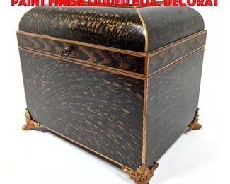 Lot 212 MAITLAND SMITH Feather Paint Finish Lidded Box. Decorat