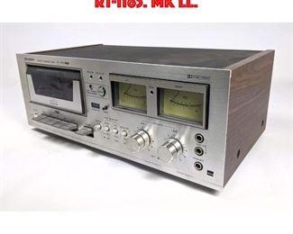 Lot 215 SHARP Stereo Cassette Deck. RT1165. Mk ll.