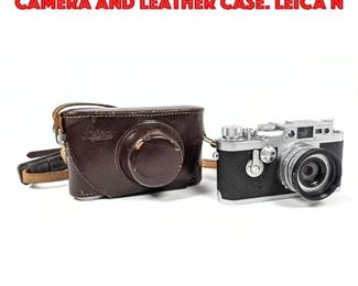 Lot 216 2pc Vintage LEICA 35mm Camera and Leather Case. LEICA N